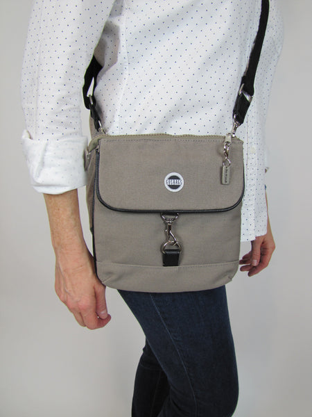 Gray Crossbody Purse