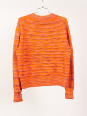 Saffron Orange Kimbal Summer Mix Sweater