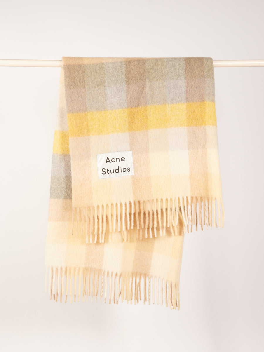 Yellow/Grey Vally Blanket Scarf