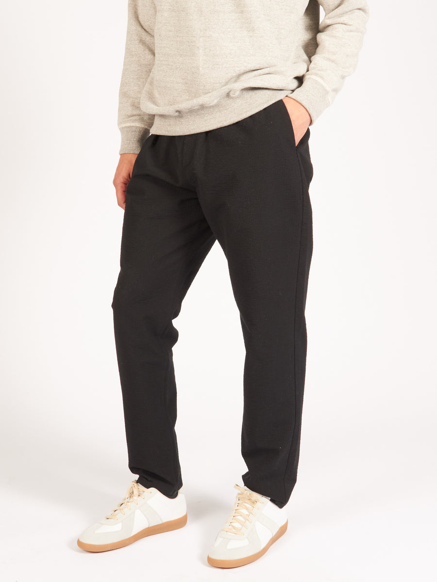 Black Elasticated Wide Trousers