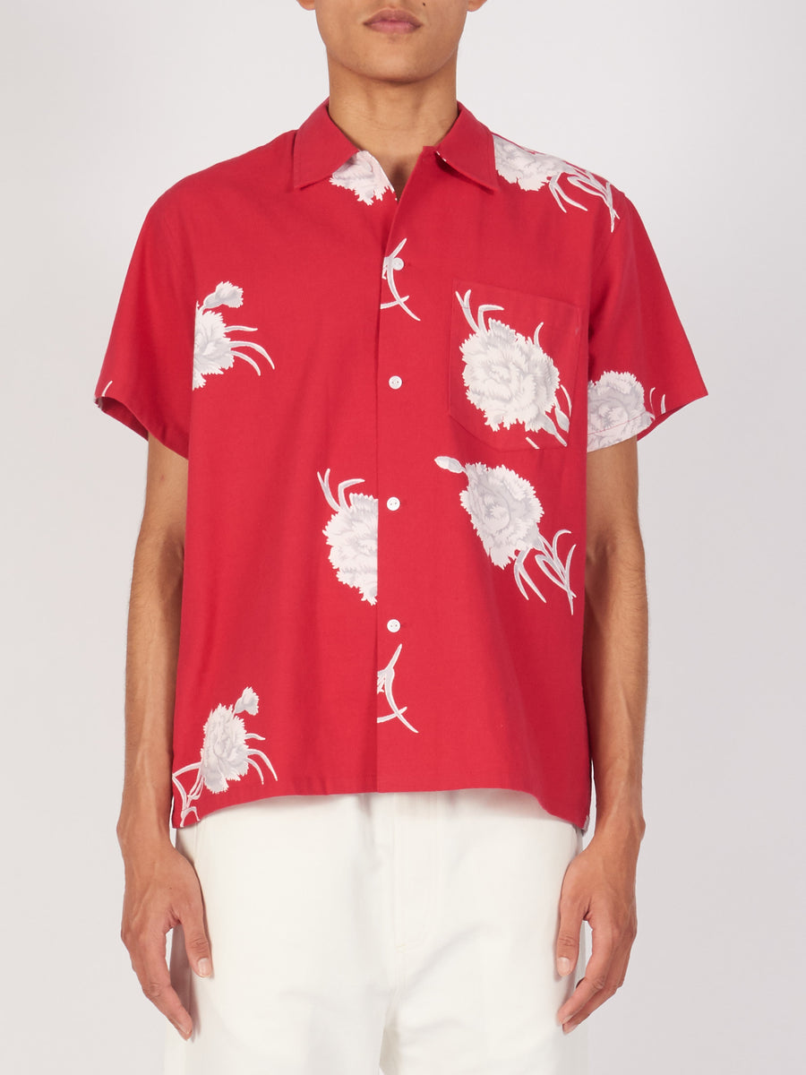 Red Carnation Bowling Shirt