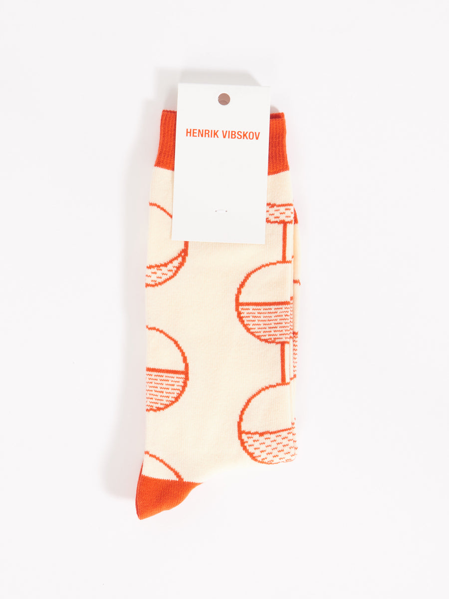 Red Pearls On A String Socks