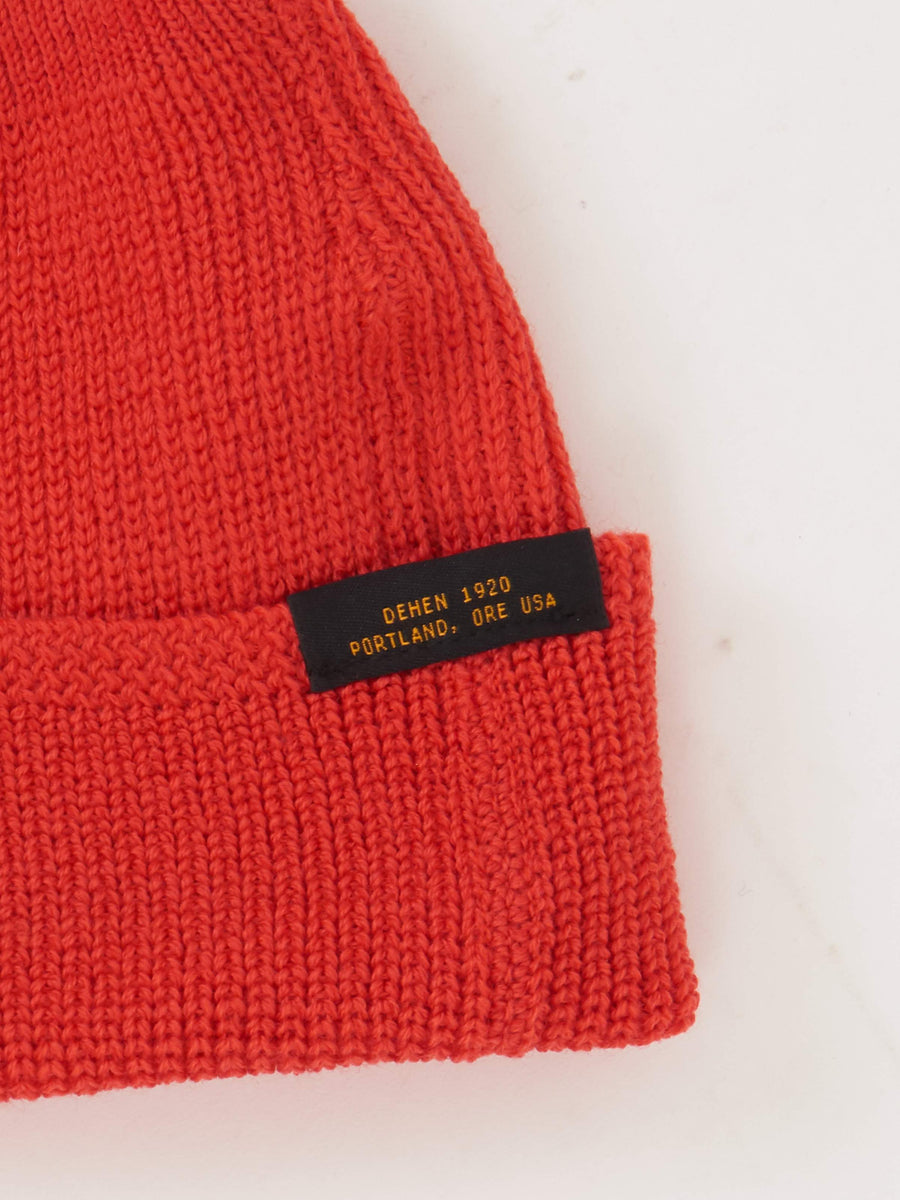 Blood Orange Wool Knit Watch Cap