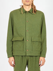 French Terry Green Jakarta Jacket