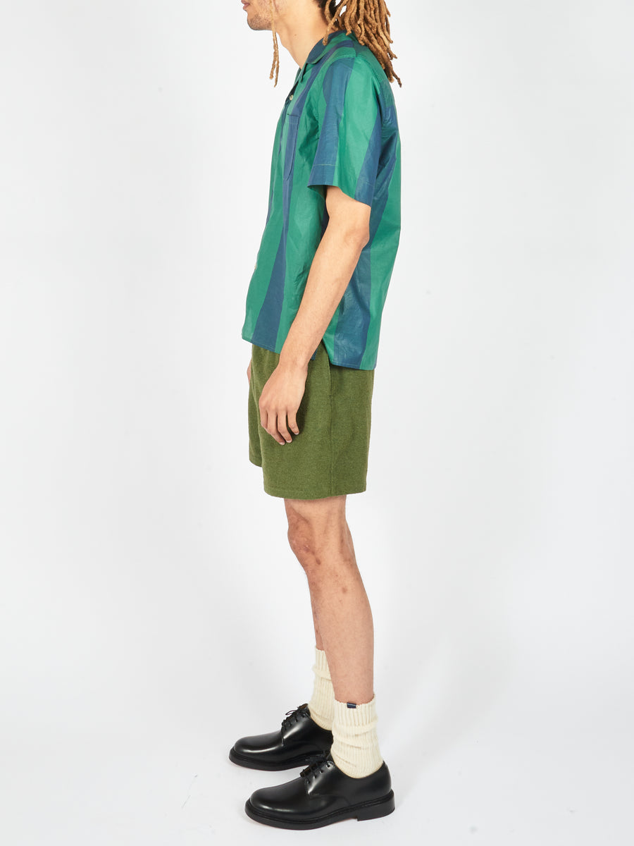 French Terry Green Volta Shorts