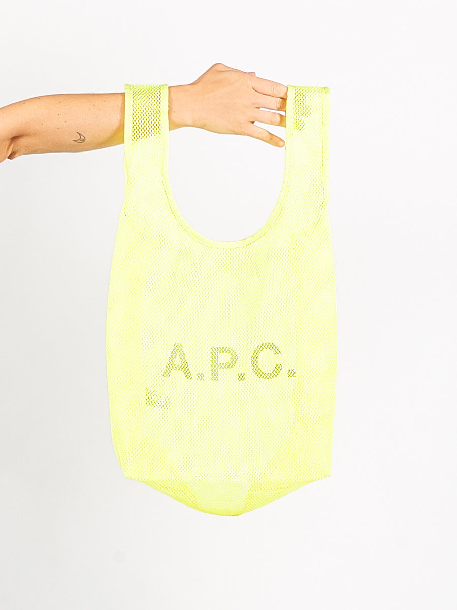 Fluorescent Yellow Rebound Shopping Bag