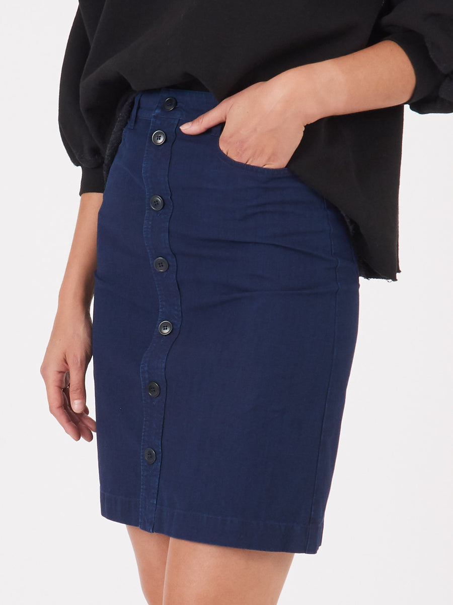 A.P.C.-Stonewashed-Indigo-Therese-Skirt-on-body