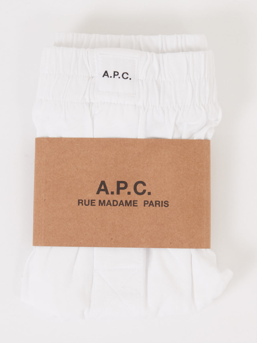 A.P.C.-White-Cabourg-Boxer-Shorts