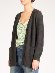 acne-anthracite-grey-kianne-rib-cardigan-on-body