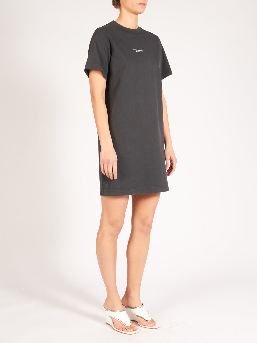 acne-black-elleni-stamp-dress-on-body