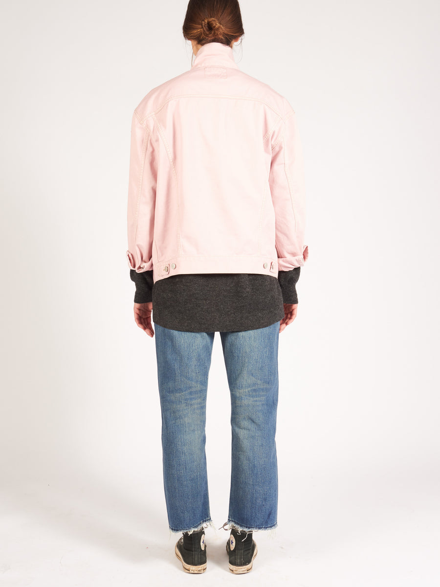 acne-powder-pink-relaxed-fit-denim-jacket-on-body