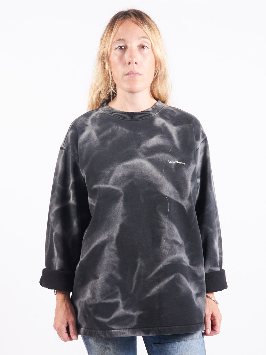 Acne-Studios-Black-Tie-Dye-Sweatshirt-On-Body