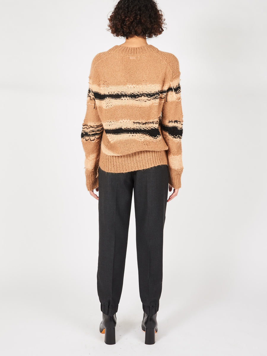 acne-studios-camel-black-striped-sweater-on-body