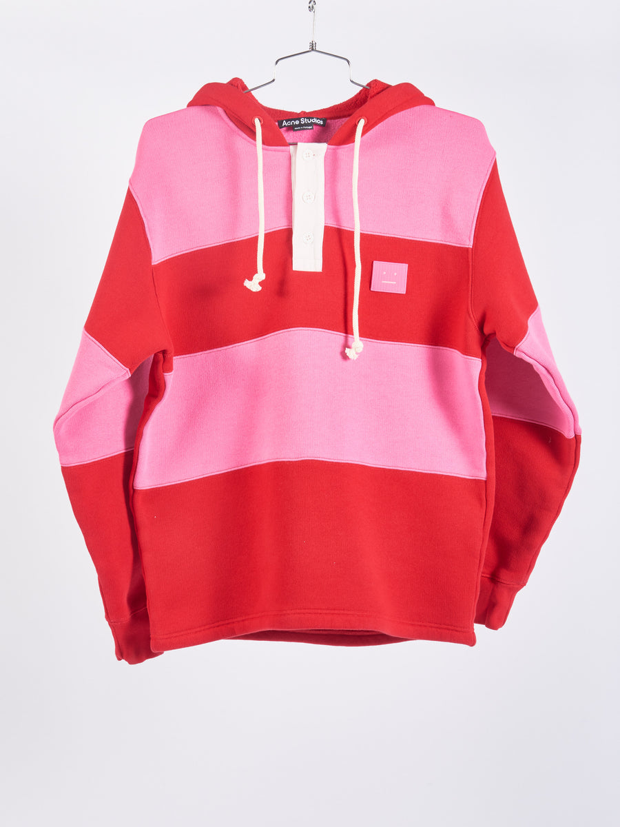 Cherry Red Face Hooded Sweatshirt
