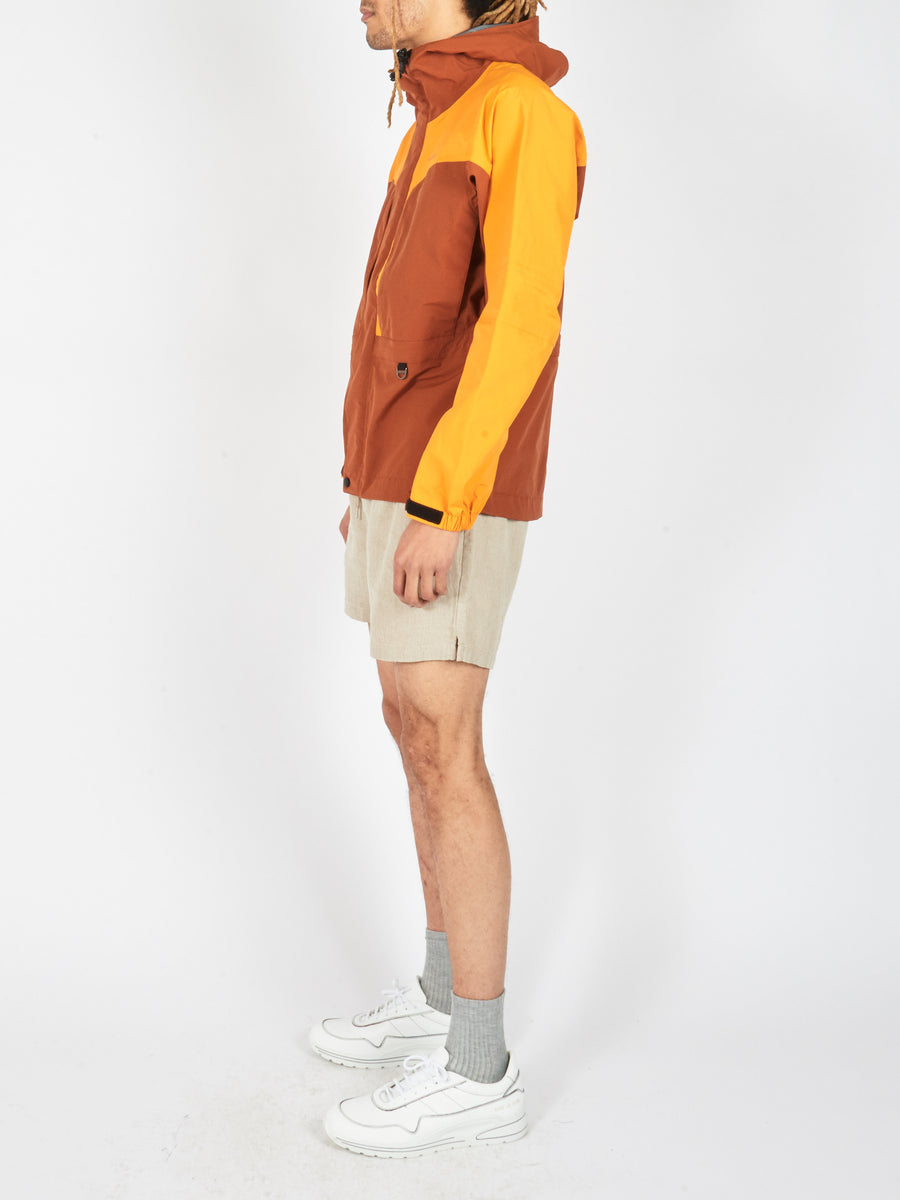 Cognac Brown/Saffron Orange Color Block Jacket