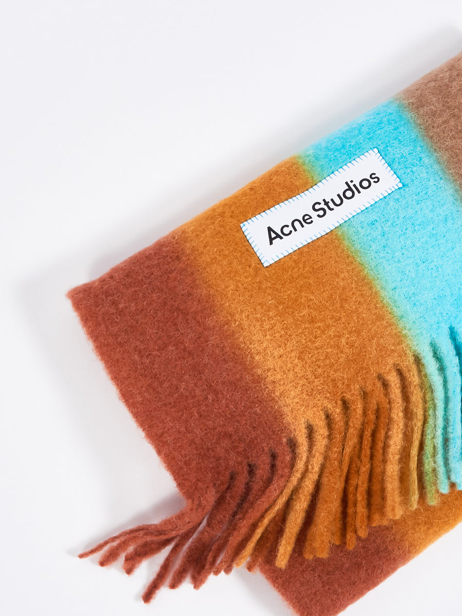 Light Blue/Orange Scarf