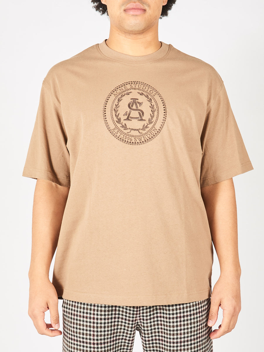 Light Brown Embroidered T-Shirt