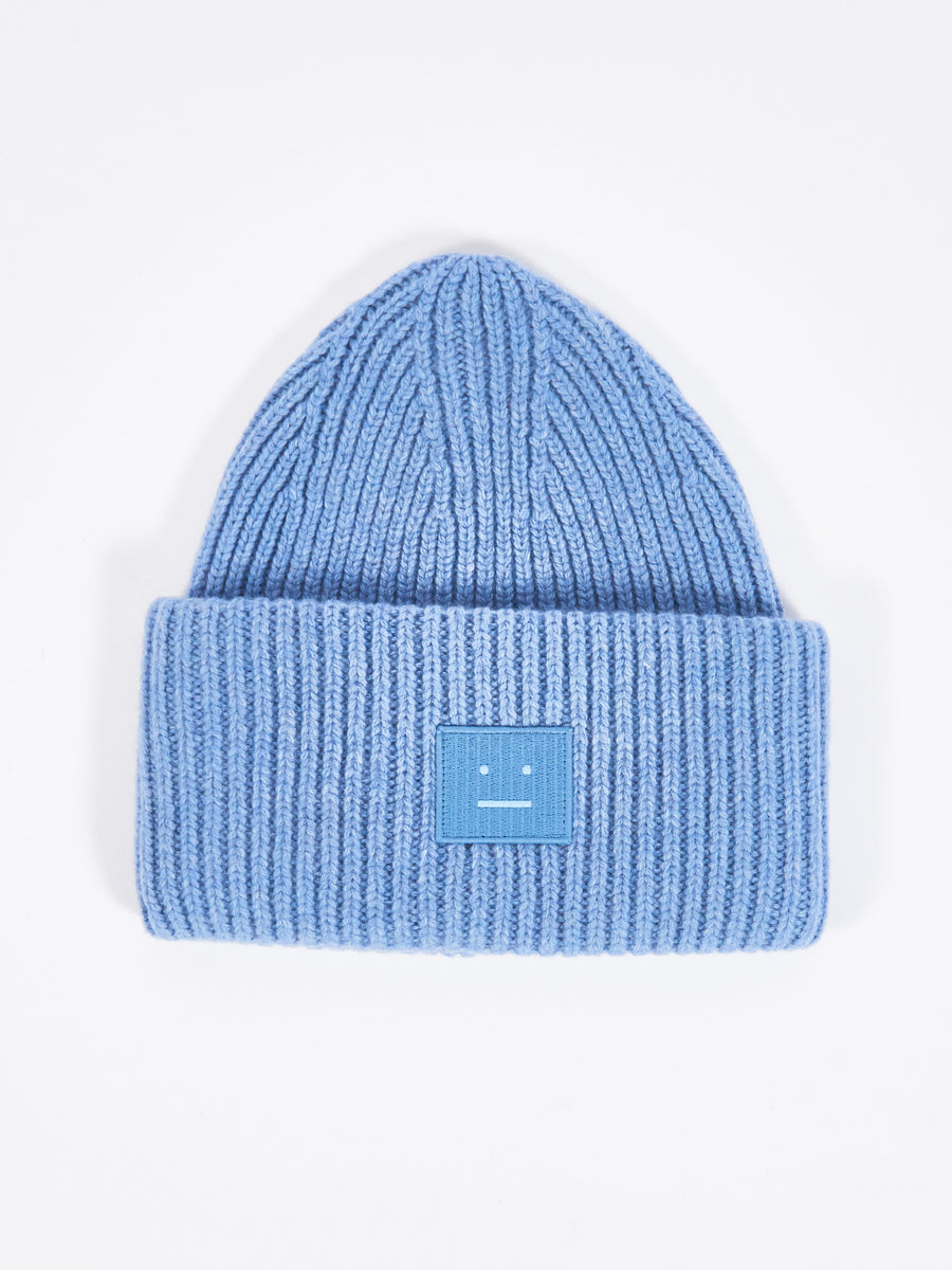 Mineral Blue Pansy N Face Beanie