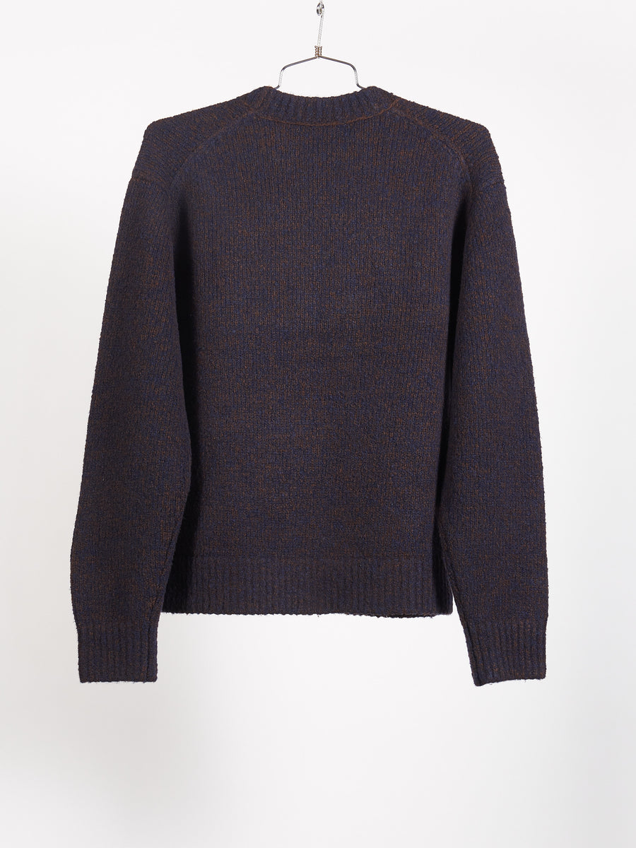 Navy/Brown Cashmix Sweater