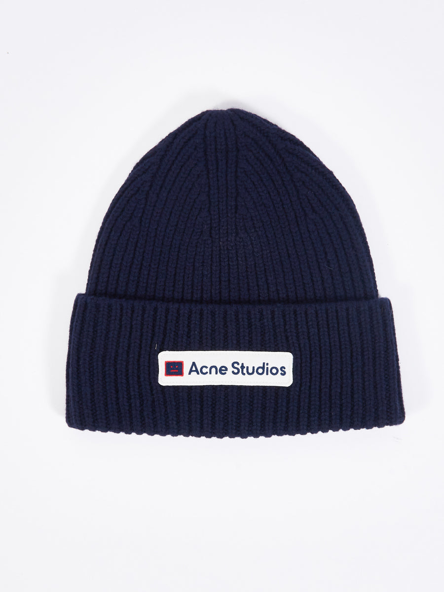 Navy Logo Patch Beanie