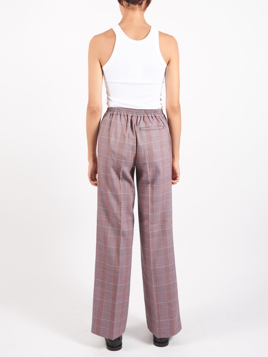 Pink/Purple Check Suiting Trousers