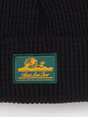 Aimé-Leon-Dore-Black-Waffle-Knit-Beanie-on-body