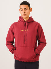 Aimé-Leon-Dore-Burgundy-Kanga-Hoodie-Sweatshirt-on-body