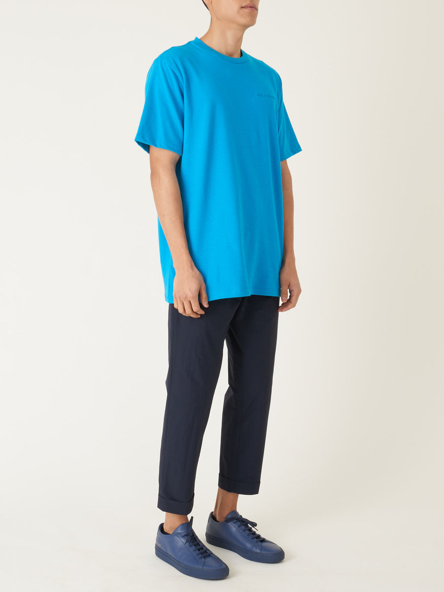 Aimé-Leon-Dore-Navigate-Blue-S/S-Logo-tee-on-body