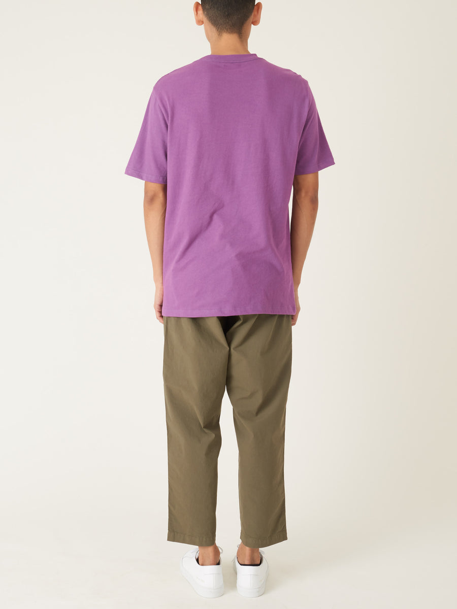 Aimé-Leon-Dore-Purple-Tape-S/S-Logo-Tee-on-body