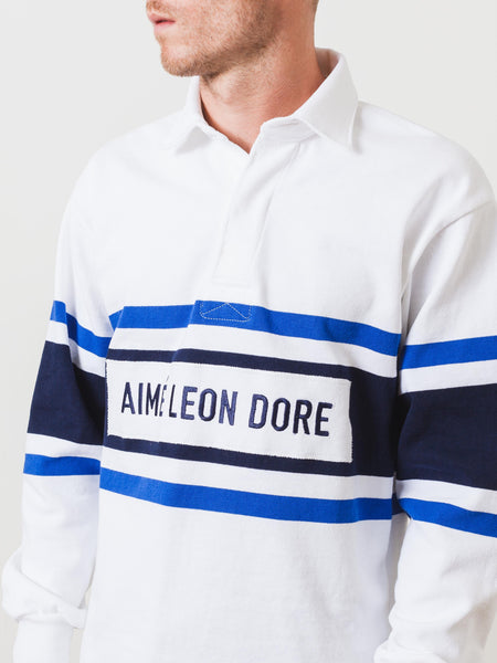 White / Royal Rugby Shirt