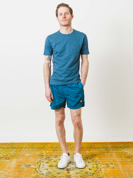 Washed Teal Overdyed Heather Tee