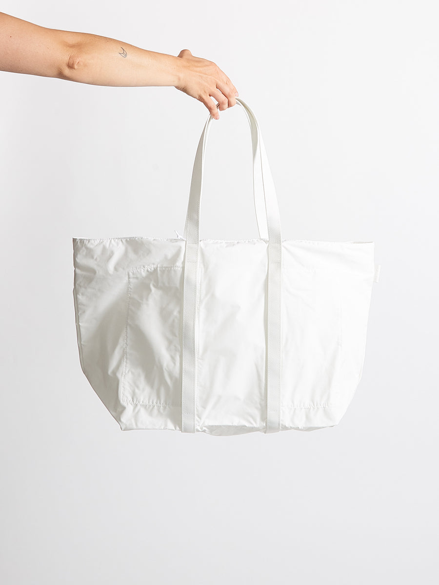 White Large Birds Eye Tote