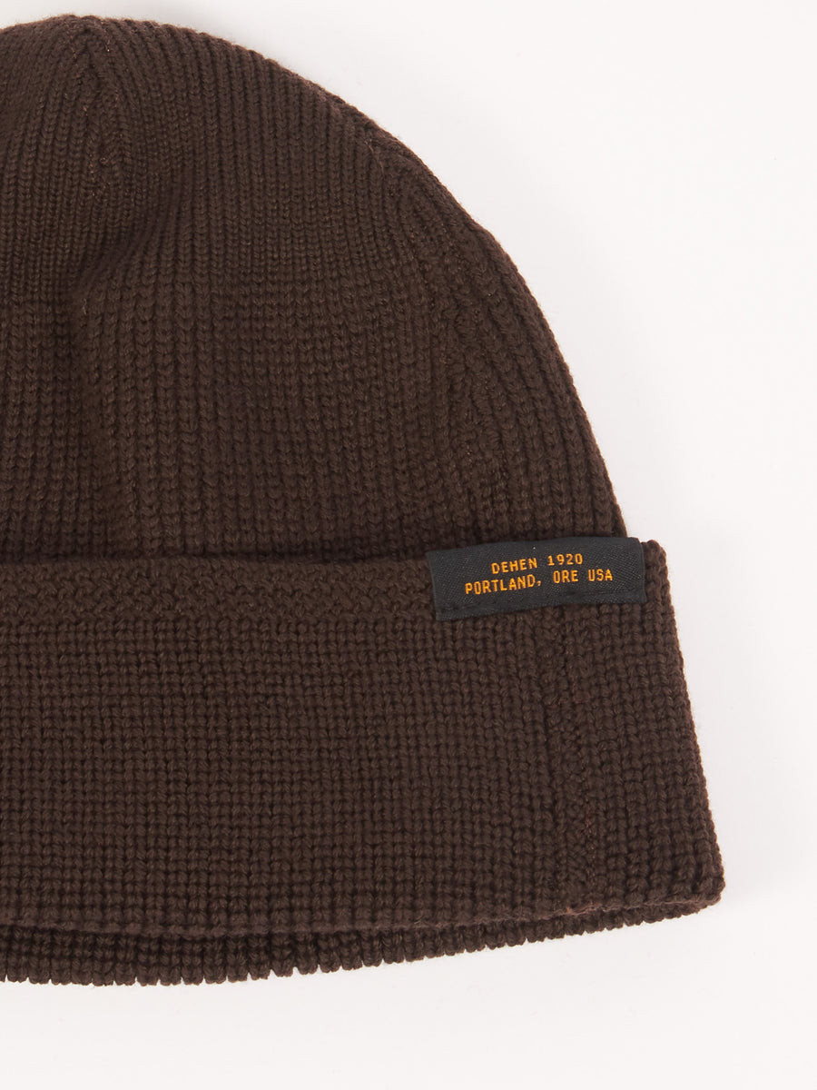 Brown Wool Knit Watch Cap