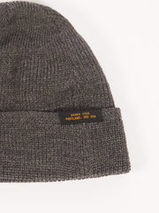 Charcoal Wool Knit Watch Cap