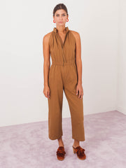 apiece-apart-cinnamon-archer-zip-front-jumpsuit-on-body