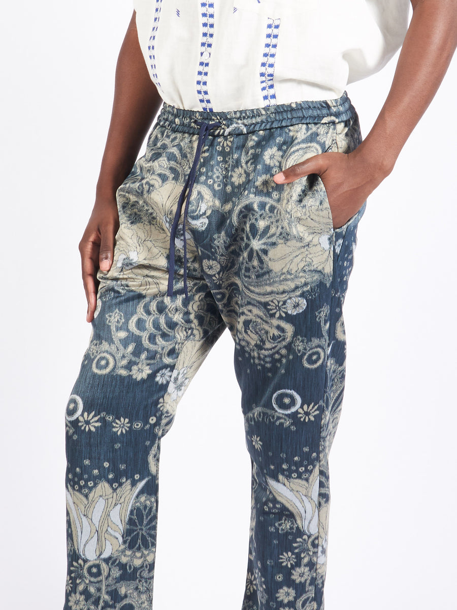 Navy Bativoga Trousers