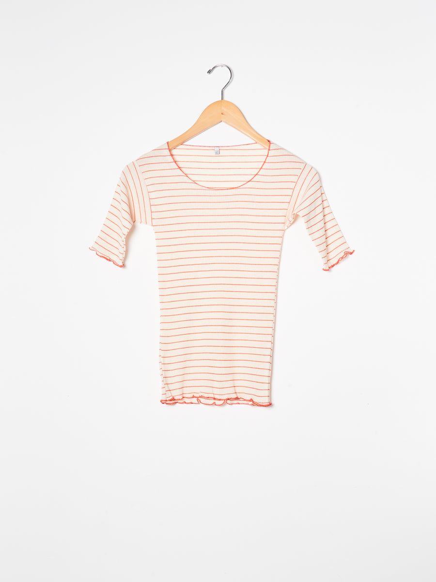 Red/White Stripe Pama 3/4 Tee