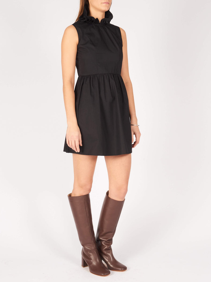 Batsheva-Black-Mini-Prairie-Dress-on-body