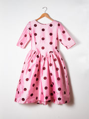 Red/Pink Polka Dot Spring Willow Dress