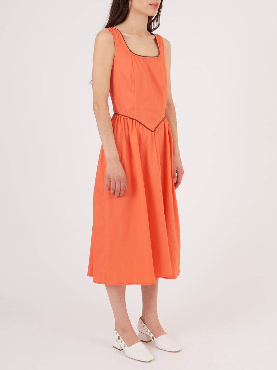 Batsheva-Coral-Dirndle-Dress-on-body