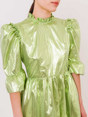 batsheva-green-lamé-spring-prairie-dress-on-body