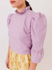 batsheva-lavender-simple-ruffle-crop-top-on-body