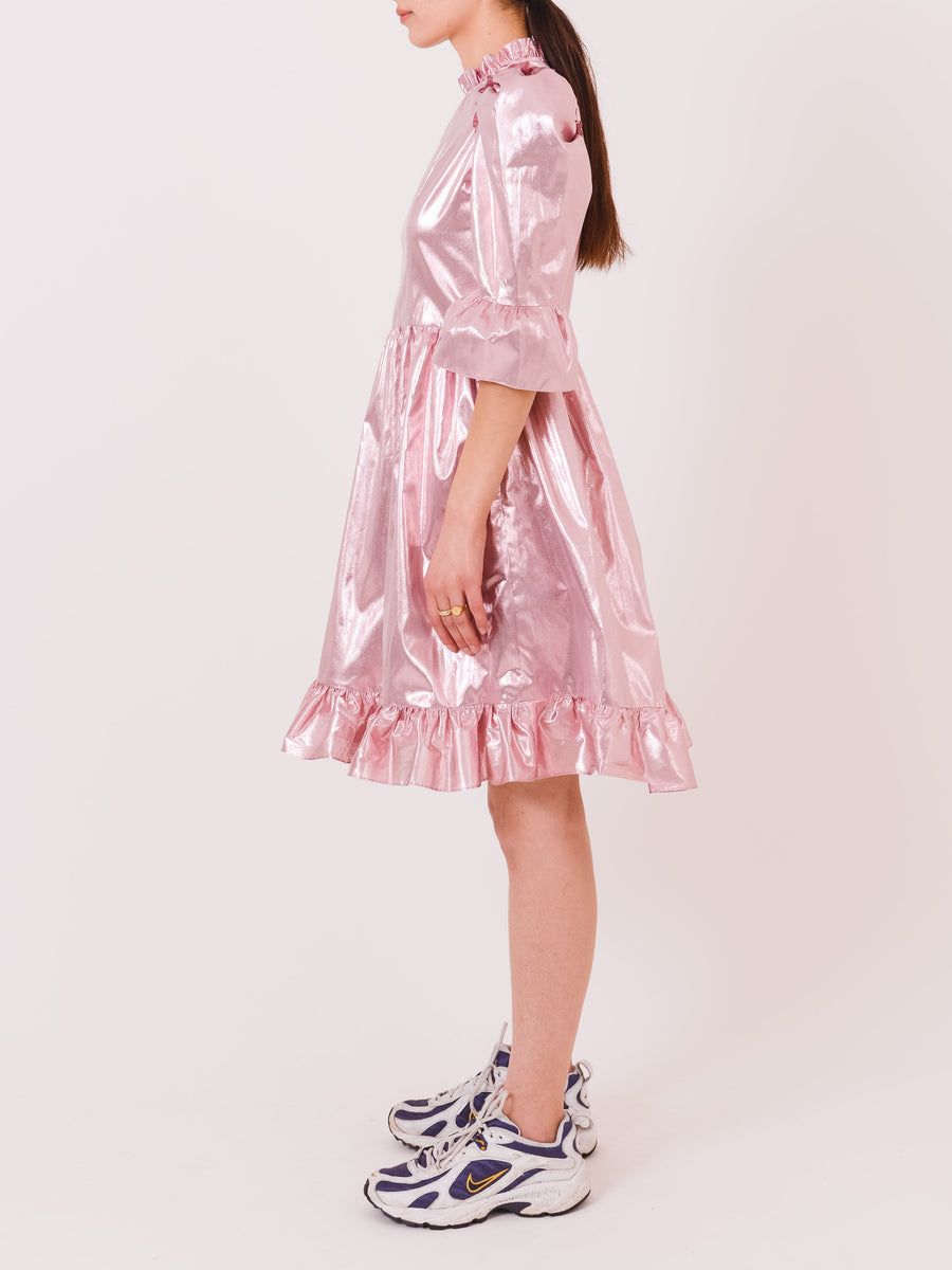 batsheva-pink-lamé-spring-prairie-dress-on-body