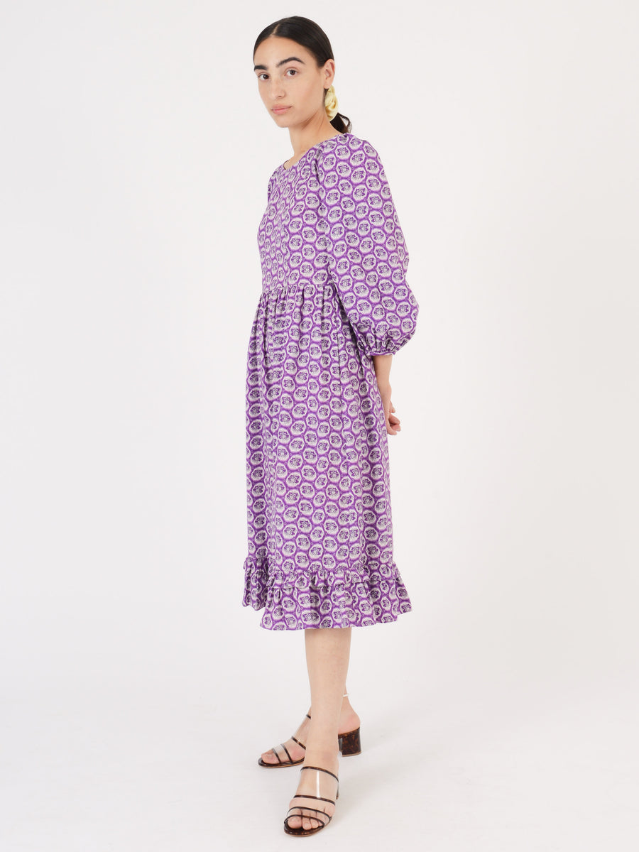 Batsheva-Purple-Leaf-Peasant-Dress-on-body