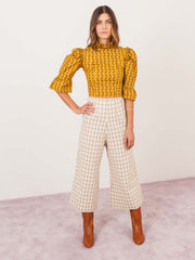 batsheva-yellow-sunflower-ruffled-crop-top-on-body