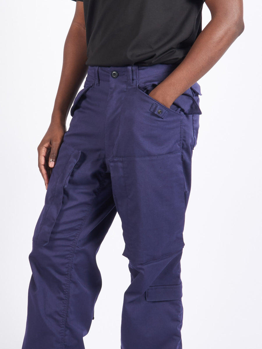 Navy Zip Trousers