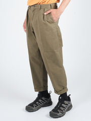 Olive 2Pleats Twill Pants
