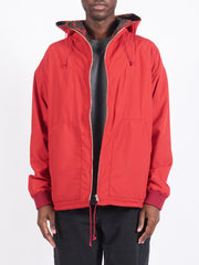 Red Hooded Reversible Jacket