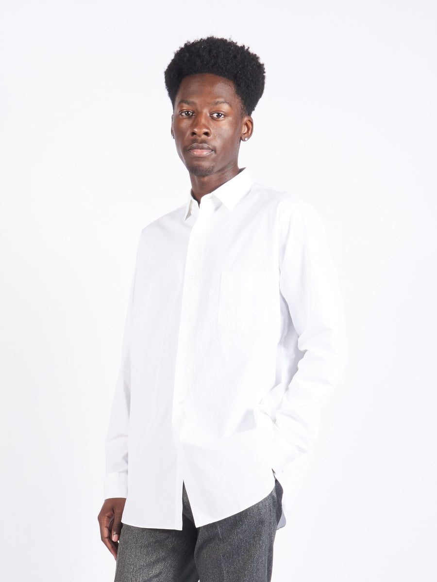 White Broad Classic Fit Shirt