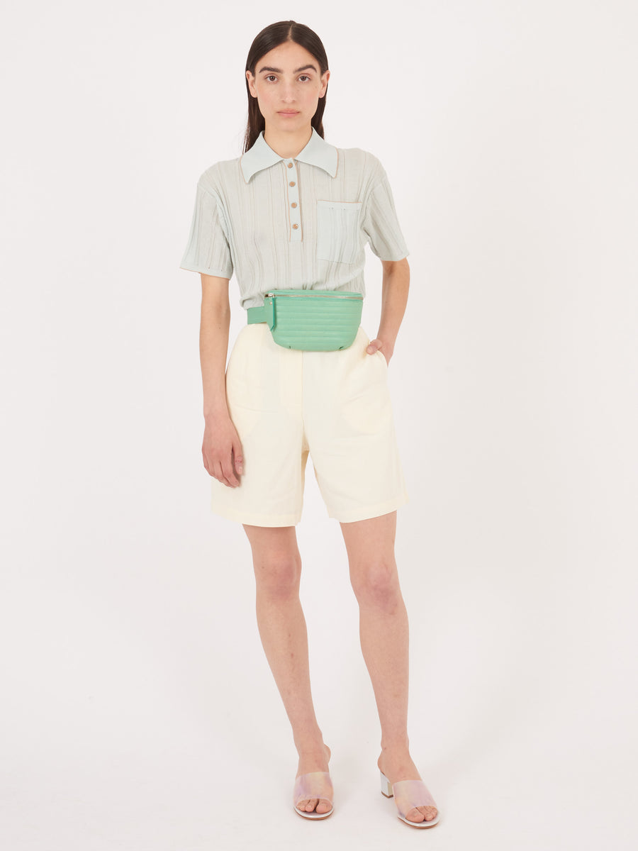 Beklina-Mint-Ribbed-Fanny-Pack-on-body
